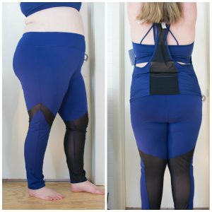 Fabletics legging, tank, and sports bra.