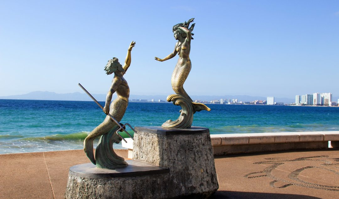 Mermaid Sculpture on Puerto Vallarta Boardwalk