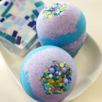 Mermaid Bath Bomb by SunbasilgardenSoap on Etsy.